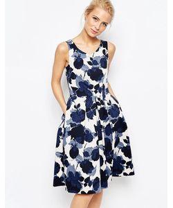 Closet | Платье Миди С Цветочным Принтом