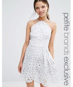 Chi Chi Petite   Платье Миди Для Выпускного С Высокой Горловиной И Вырезным Узором Chi