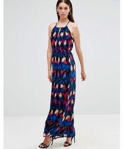 Twin Sister | Платье Макси С Халтером И Вырезом Капелькой Purple