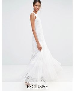 A Star Is Born | Кружевное Платье Макси С Отделкой Белый