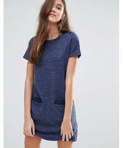 Jack Wills   Цельнокройное Меланжевое Платье Темно-Синий