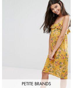 Yumi Petite | Платье На Тонких Бретельках С Оборкой Сверху