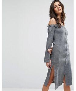 House of Sunny | Платье С Открытыми Плечами И Молнией Спереди