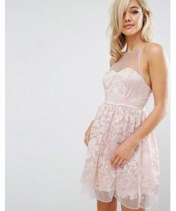 Lipsy   Многослойное Платье Для Выпускного Из Органзы