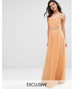TFNC   Платье Макси С Открытыми Плечами И Отделкой Wedding