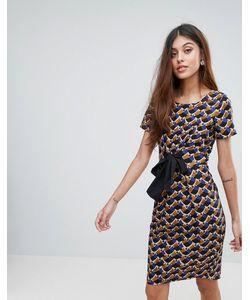 Closet London | Платье С Геометрическим Принтом И Бантом Closet