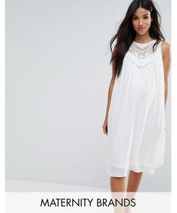 Mama Licious | Тканое Платье Без Рукавов С Кружевной Вставкой Mama.Licous