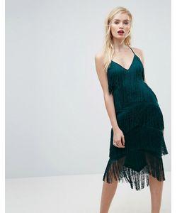 Asos   Сетчатое Облегающее Платье На Бретельках