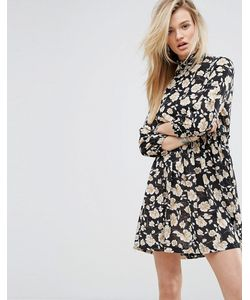 MISSGUIDED   Print High Neck Dress