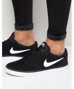 Nike SB | Черные Кроссовки Check Solar 843895-001 Черный