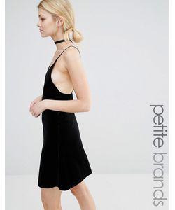 Vero Moda Petite | Бархатное Платье На Бретельках Черный