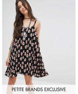 Glamorous Petite | Плиссированное Платье На Бретельках С Цветочным Принтом Мульти