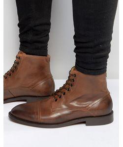 Hudson London   Кожаные Ботинки Seymour Рыжий