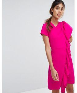 Closet London | Платье Мини С Асимметричной Оборкой Closet