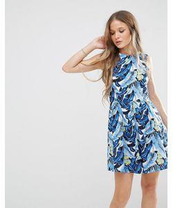 Madam Rage | Короткое Приталенное Платье С Цветочным Принтом