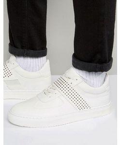 Asos | Белые Высокие Кроссовки С Перфорированным Ремешком