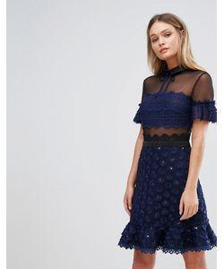 THREE FLOOR | Короткое Приталенное Платье С Воротником