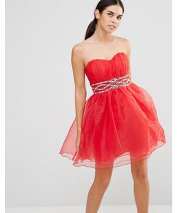 Laced In Love | Платье Для Выпускного Красный