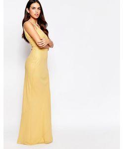 VLabel London | Платье Макси Vlabel River Золотой