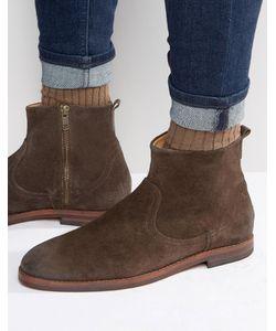 Hudson London   Замшевые Ботинки На Молнии Коричневый
