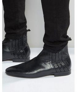 Hudson London   Кожаные Ботинки Челси Larner Черный