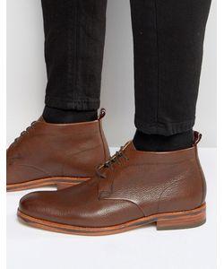 Hudson London   Кожаные Ботинки Lenin Коричневый