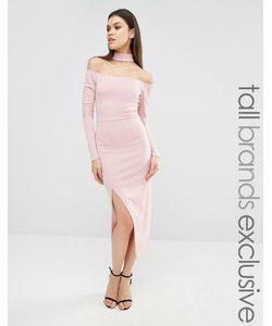 NaaNaa Tall | Платье-Футляр С Разрезом До Бедра Mauve