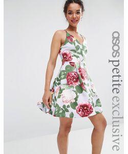 ASOS PETITE | Платье Для Выпускного С Бретельками И Цветочным Принтом
