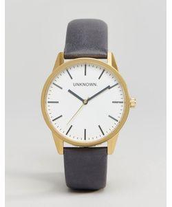 UNKNOWN   Часы С Темно-Синим Кожаным Ремешком Classic 39 Мм