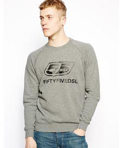 55DSL | Свитшот С Логотипом Серый