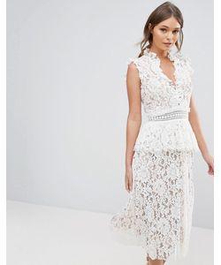 True Decadence | Кружевное Платье С Оборками
