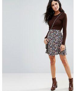 WYLDR | Cross The Line Printed Wrap Skirt