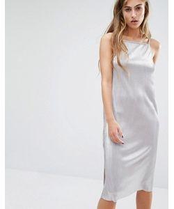 Miss Selfridge | Платье Миди Цвета Металлик На Бретельках