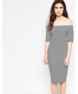 Minimum | Платье В Полоску С Открытыми Плечами Tanne