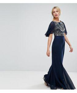 Amelia Rose | Платье Макси С Расклешенными Шифоновыми Рукавами