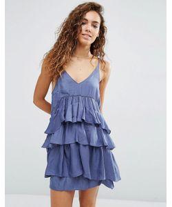 d.Ra   Платье С Ярусными Оборками Kade Slate