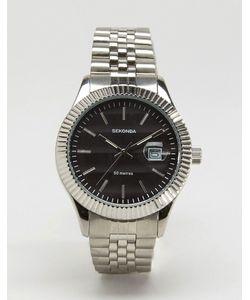 Sekonda | Серебристые Наручные Часы С Черным Циферблатом Эксклюзивно Для Asos