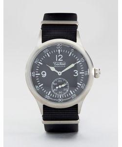 Techne   Часы С Черным Ремешком Merlin Nato Черный