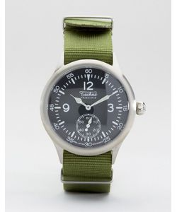 Techne   Часы С Оливковым Ремешком Merlin Nato Зеленый