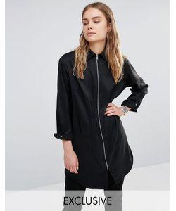 House of Sunny | Рубашка С Молнией Спереди Essential Черный