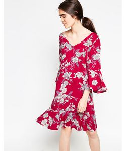 Minimum   Платье С Цветочным Принтом Era Насыщенный Красный