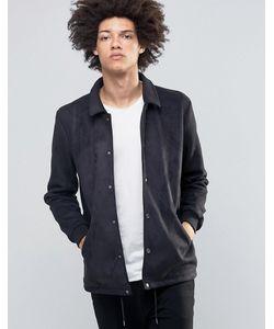 Asos | Черная Тренерская Куртка Из Искусственной Замши Черный