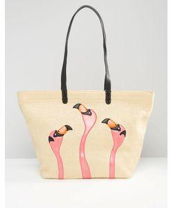 Gracie Roberts | Сумка-Шоппер С Фламинго Естественный