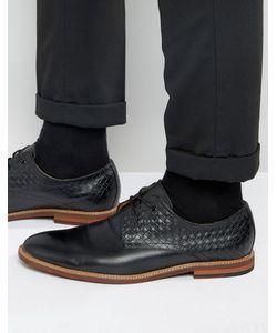 Aldo | Черные Кожаные Туфли Дерби С Плетеными Вставками Sodano Черный