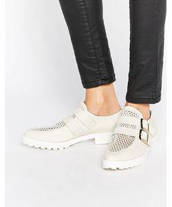 Miista | Кожаные Туфли С Пряжками На Плоской Подошве Bhu Белый