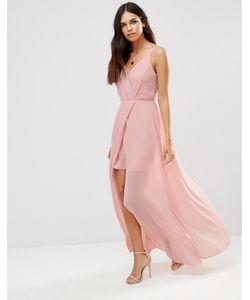 Adelyn Rae | Платье Макси С V-Образным Вырезом Светло-Розовый