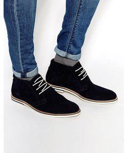 Dune | Темно-Синие Замшевые Ботинки Чукка Темно-Синий