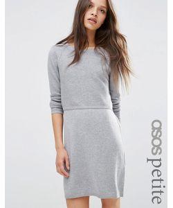 ASOS PETITE | Трикотажное Платье 2 В 1 На Основе Кашемира