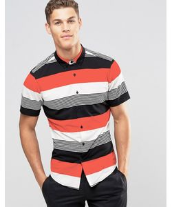 Asos | Рубашка Классического Кроя В Разноцветную Полоску Мульти