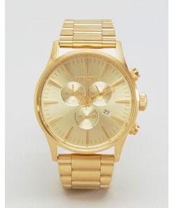 Nixon   Золотистые Часы С Хронографом Sentry Золотой